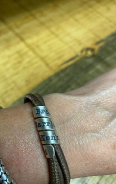 Family Name Bracelet - Blue Suede [Sterling Silver]