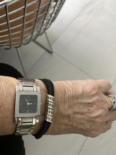 Family Name Bracelet - Black Suede [Sterling Silver]