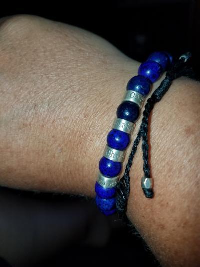 Lapis Lazuli Men Name Bracelet